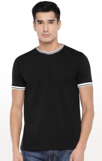 globus | Black Solid T-Shirt