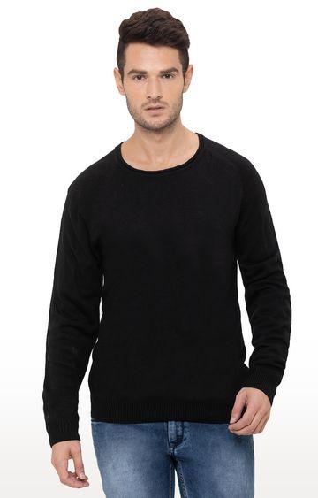 globus | Black Solid Sweater