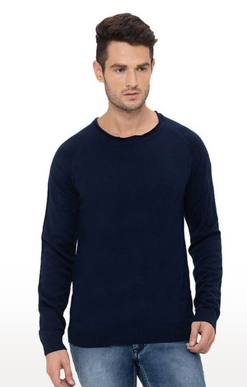 globus | Blue Solid Sweater