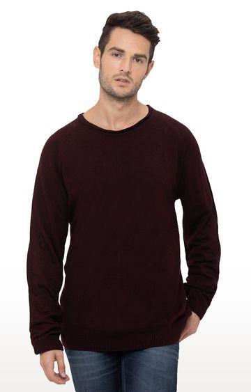 globus | Wine Solid Sweater