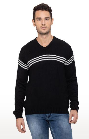 globus | Black Striped Sweater