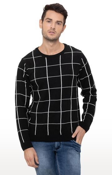 globus | Black Checked Sweater