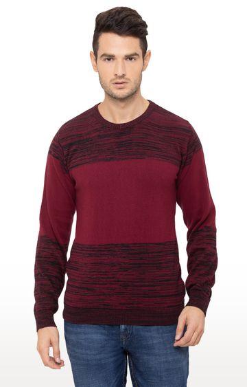 globus | Maroon Printed Sweater