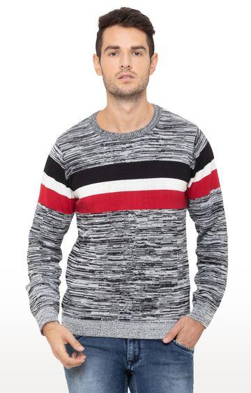 globus | Grey Printed Sweater