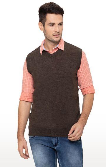globus | Brown Solid Sweater