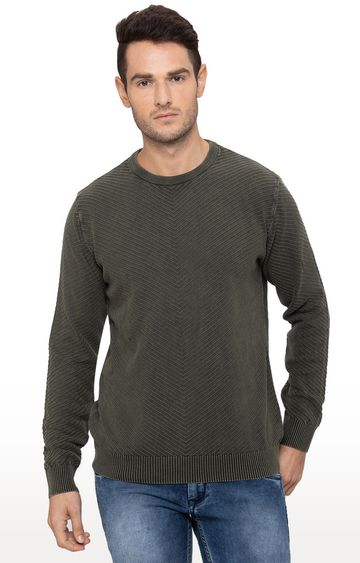 globus | Green Solid Sweater