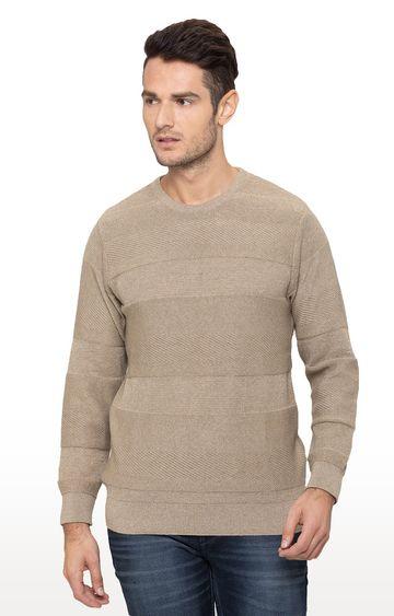 globus | Tan Solid Sweater