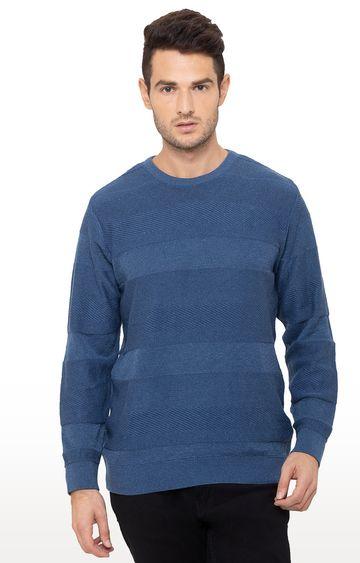 globus | Blue Solid Sweater