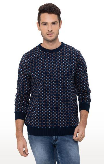 globus | Blue Printed Sweater