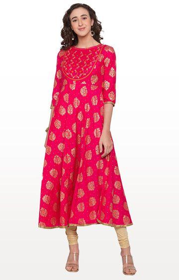 globus | Pink Printed Anarkali