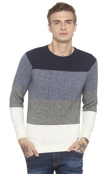 globus | Blue Colourblock Sweatshirt