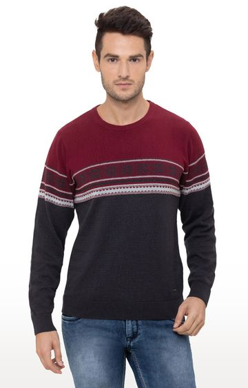 globus   Red and Black Striped T-Shirt