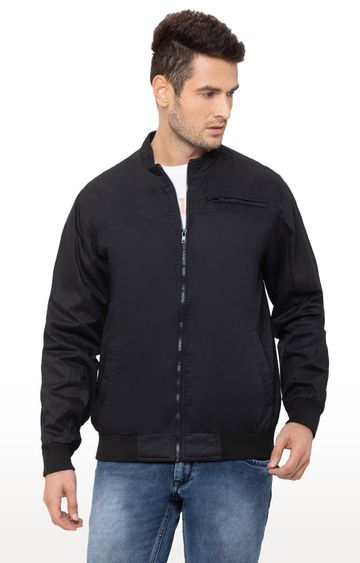 globus | Black Solid Bomber Jacket