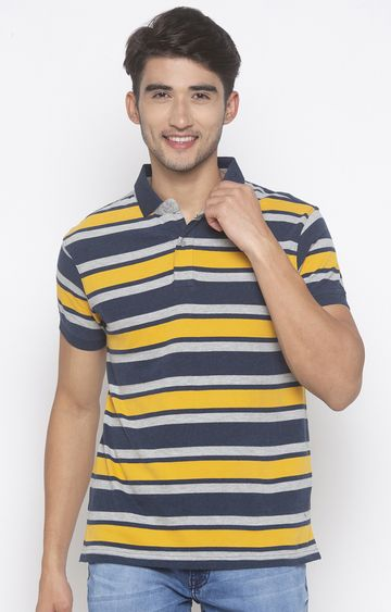 globus | Yellow Striped Polo T-Shirt