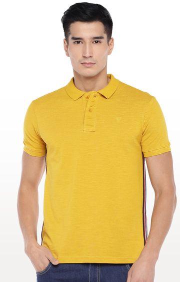 globus | Yellow Solid Polo T-Shirt