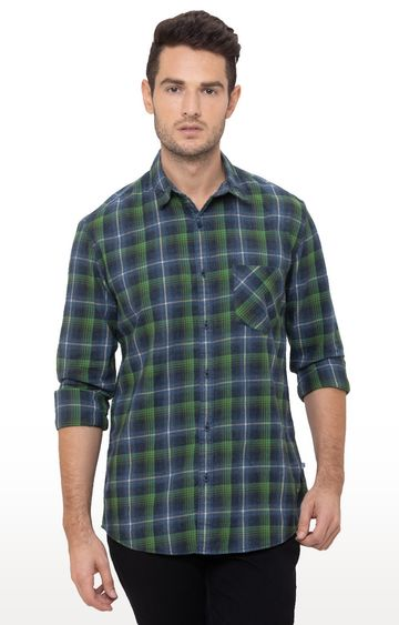 globus | Green Checked Casual Shirt
