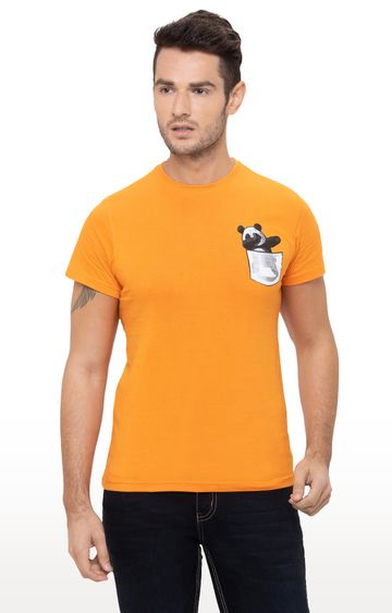 globus | Orange Printed T-Shirt