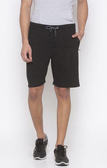 globus | Black Solid Shorts