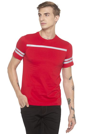 globus | Red Striped T-Shirt