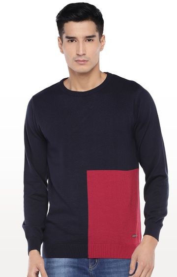 globus | Navy Colourblock Sweatshirt