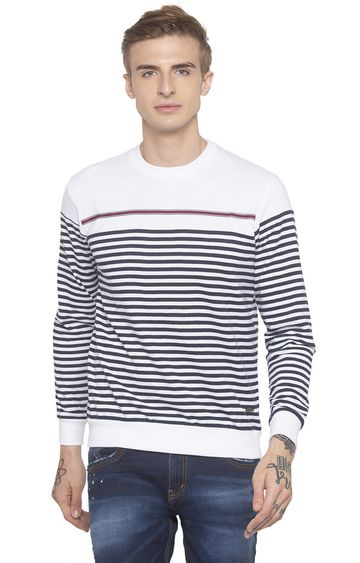 globus | White Striped T-Shirt