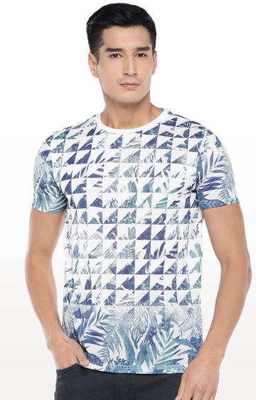 globus | White Printed T-Shirt