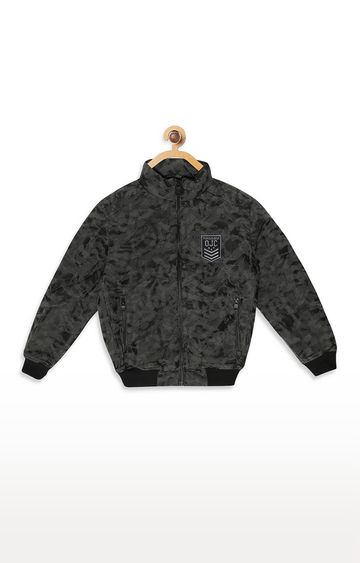 OCTAVE | Charcoal Printed Jacket