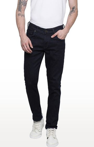 Spykar   Spykar Raw Blue Solid Super Skinny Fit Jeans