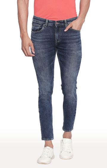 spykar | Spykar Mid Blue Solid Tapered Fit Jeans
