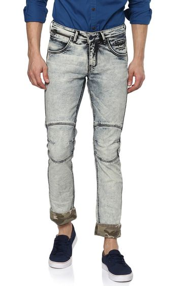 Spykar | Spykar Grey Solid Straight Jeans