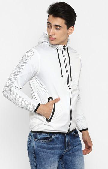 spykar | spykar White Nylon Front Open Jackets