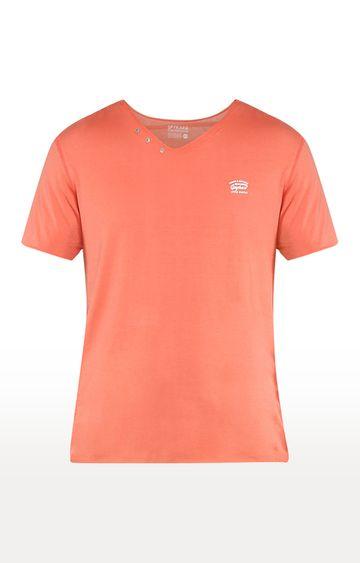 spykar | Spykar Coral Solid Slim Fit T-Shirts