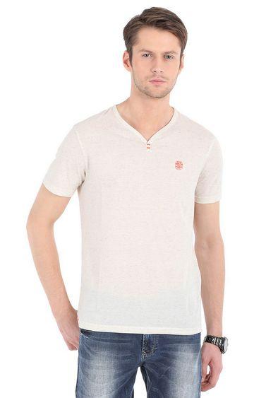spykar | Pink Melange Slim Fit T-Shirts