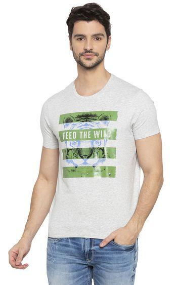 spykar   Spykar Ash Melange T-Shirt