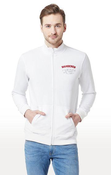 spykar | Spykar White Solid Slim Fit Front Open Jackets