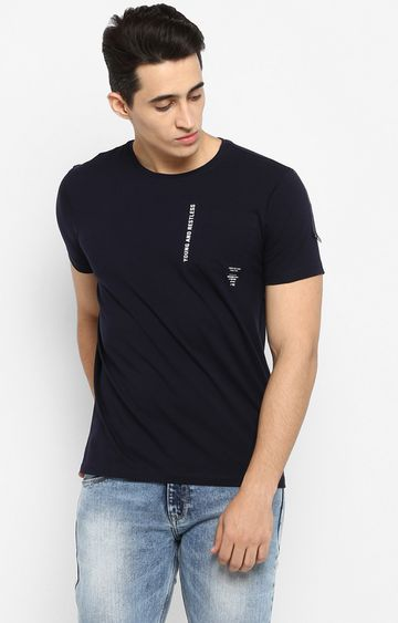 spykar | Spykar Navy Solid T-Shirt