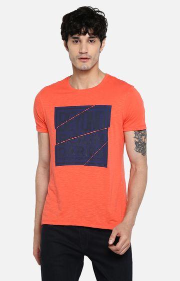 spykar | Spykar Coral Printed Slim Fit T-Shirts