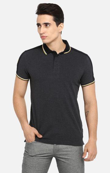 spykar   Spykar Grey Melange T-Shirt