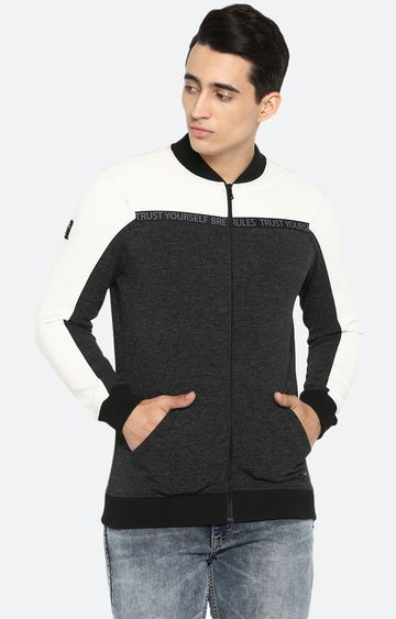 spykar   spykar Grey Cotton Sweatshirts