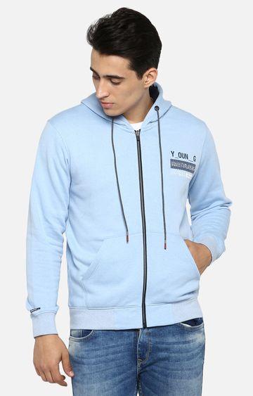 spykar | Spykar Blue Solid Hoodie
