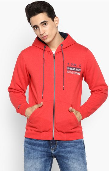 spykar | spykar Red Cotton Blend Sweatshirts
