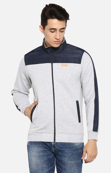 spykar   spykar Grey Cotton Blend Sweatshirts