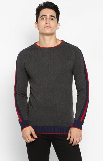 spykar   spykar Grey Cotton T-Shirts