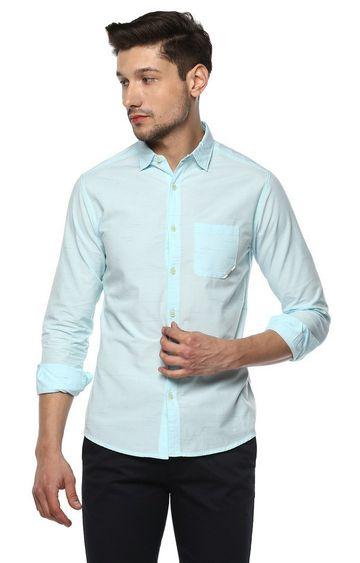 Spykar   spykar Aqua Solid Slim Fit Casual Shirt