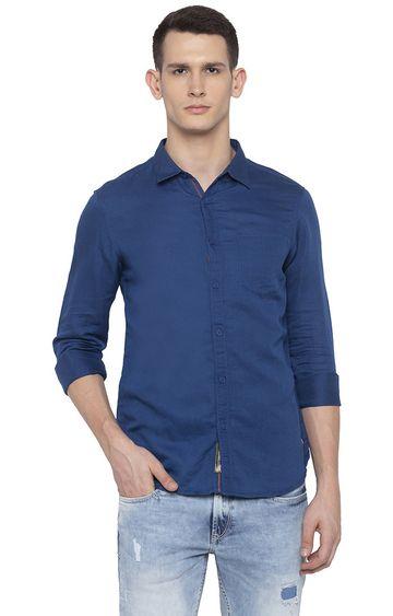 Spykar | spykar Blue Solid Casual Shirt