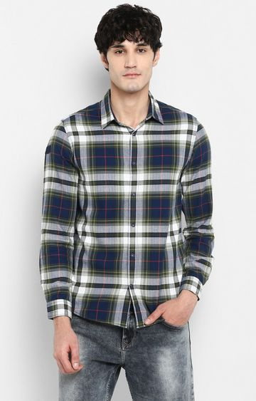 spykar | spykar Blue Checked Shoe Liners Casual Shirt