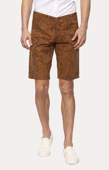 spykar | Brown Printed Slim Fit Shorts
