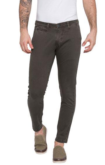 Spykar   Spykar Grey Solid Slim Fit Jeans