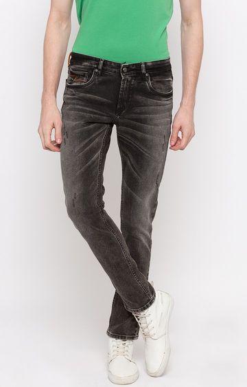 Spykar | Spykar Grey Ripped Straight Jeans