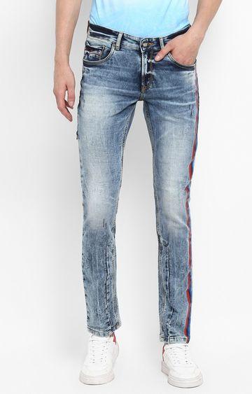 Spykar | Spykar Mid Blue Solid Skinny Fit Jeans
